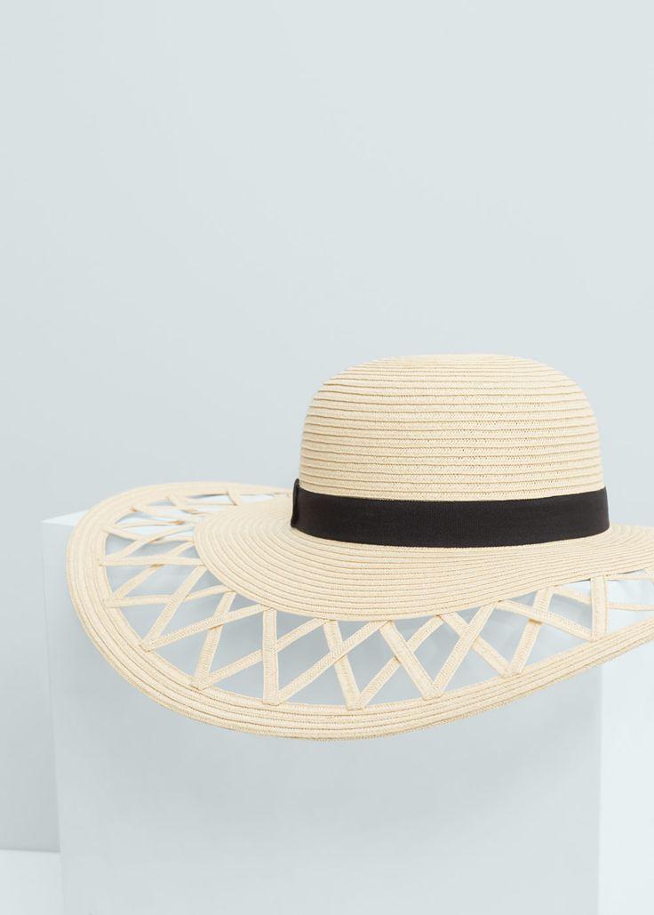 Chapéu aba palha | MANGO