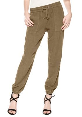 Sanctuary Women's Drawstring Waist Jogger Pants - New Brown Olive - Xs