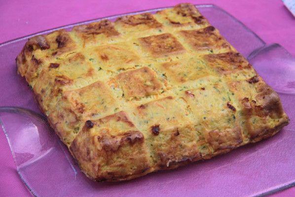 C'est parti pour une recette toute simple.. à déguster lors d'un diner ou d'un déjeuner sur la terrasse... une quiche avec de bons légumes.. à laquelle vous pouvez ajouter des dés de jambon ou de lardons pour un repas complet.. et dans le moule tablette...