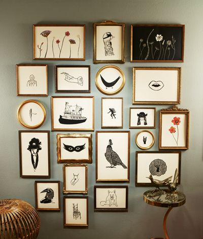 : Hanging Pictures, Wall Colour, Wall Frames, Pictures Collage, Blocks Prints, Galleries Wall, Jennifer Ament, Gray Wall, Art Wall