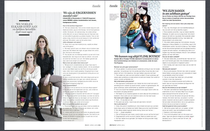MOMIQ sisters: interview in Dutch magazine RED April 2014