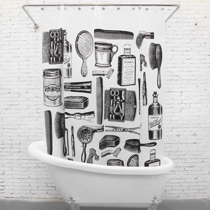 Le vintage, très tendance, accessoirisez votre pièce avec des objets d'époque. Ce rideau de douche vintage barbier peut s'accorder parfaitement avec une décoration rétro & chic. Ce rideau de douche donnera un peu de fantaisie à votre salle de bain.