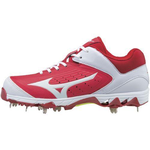 Mizuno Women's Swift 5 Fast-Pitch Softball Cleats (Red/White, Size 11) - Women's Softball Shoes at Academy Sports