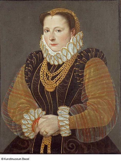 1580 Hans Bock the Elder - Portrait of Eva Steward of Rheinfelden