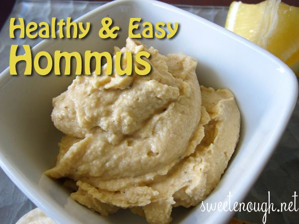 A favourite healthy and easy to make snack: Hommus