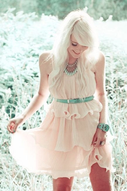 Peach and mint: Colors Combos, Summer Dresses, Spring Dresses, Cute Dresses, Than, Summer Outfits, Cowboys Boots, The Dresses, Summer Clothing