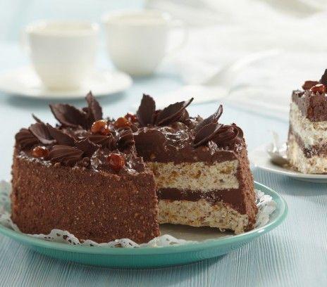 Chocolate Walnut Meringue Tort   Tort orzechowy (in Polish)