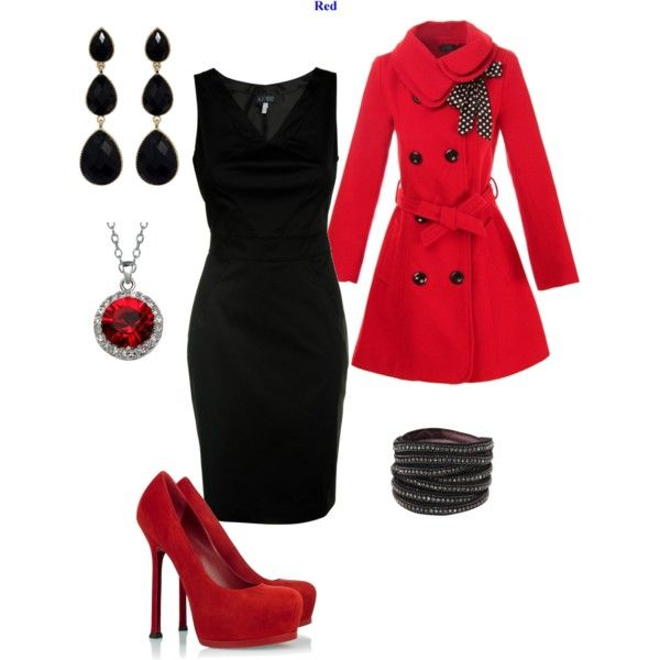 Love the jacket and red shoes with a black dress.: Nude Shoes, Red Shoes, Me Dresses, Red Jackets, Little Black Dresses, Work Outfits, Black Love, Red Coats, Red Pumps