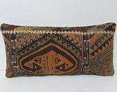 kilim pillow vintage decor rustic fabric chevron throw pillow decorative throw pillow wool rug crochet pillow case lumbar throw pillow 25098
