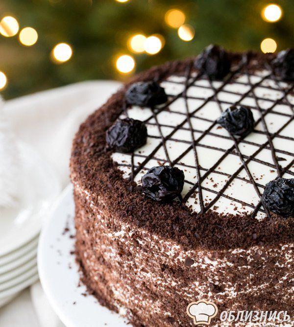 Медовый торт с черносливом пошаговый рецепт с фото