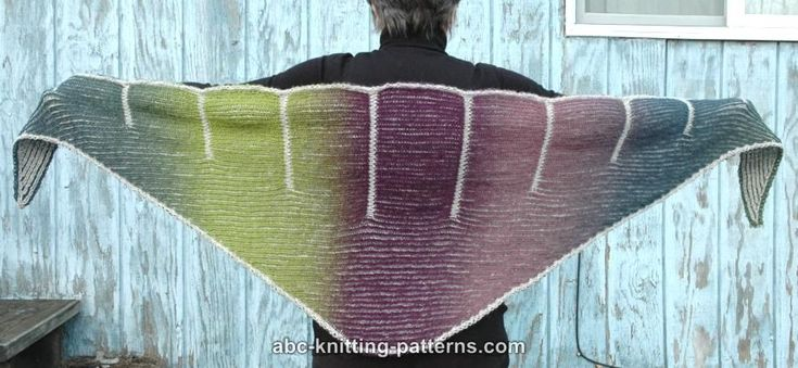 ABC Knitting Patterns - Cliffs of Dover Brioche Shawl