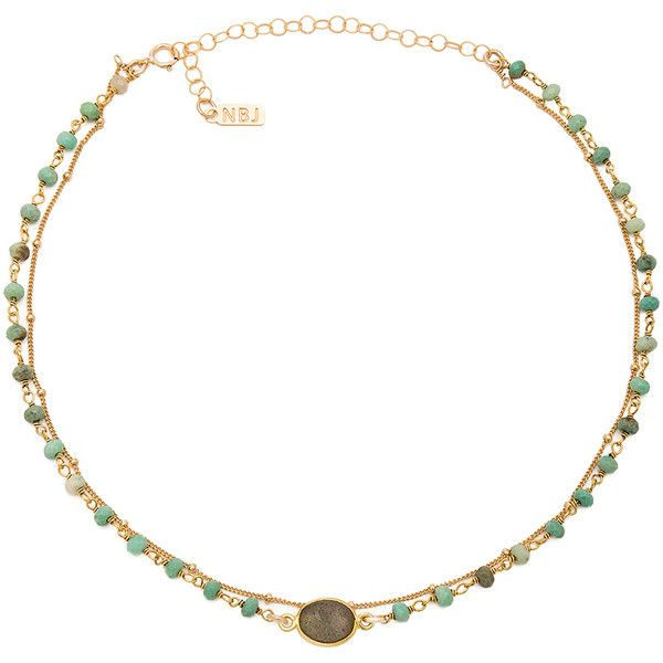 Natalie B Jewelry X REVOLVE African Opal Chain Labradorite Buried... ($79) ❤ liked on Polyvore featuring jewelry, necklaces, choker jewelry, gold tone jewelry, chain choker, opal jewellery and gold tone chain necklace