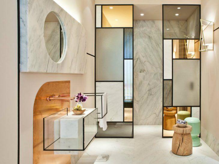 Fresh Modern Bathroom Mirror Design Complete Contemporary Interior Dengan Gambar Interior Desain Interior Modern