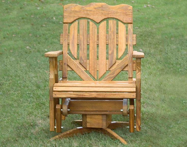 Treated Pine Swivel High Heartback Glider Furniture