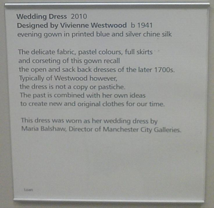 More detail on Vivenne Westwood's 1945 Wedding dress