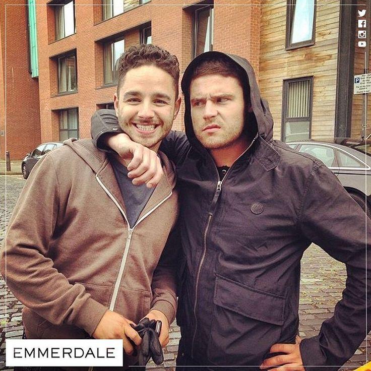 Adam Thomas (Adam Barton) & Danny Miller (Aaron Livesy) (August 2014)