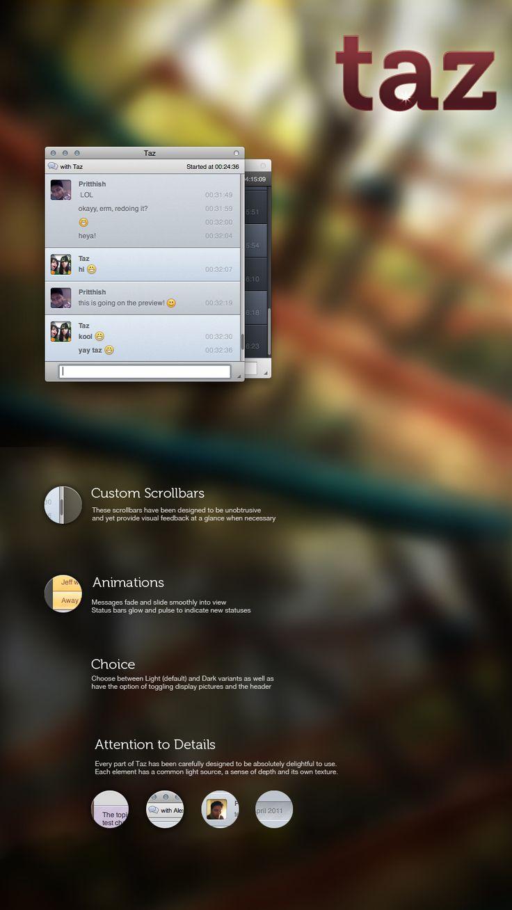 taz - Adium mod: Design Inspiration, Health Tech, Adium Mod, Mac Os, Bop Bip, Techno Wonderful, Bip Bope, Geeky Stuff