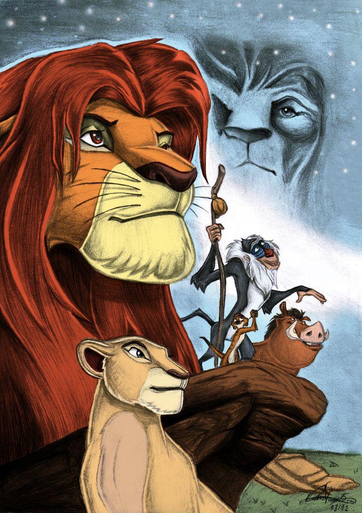 The Lion King with colors by Daviskingdom.deviantart.com