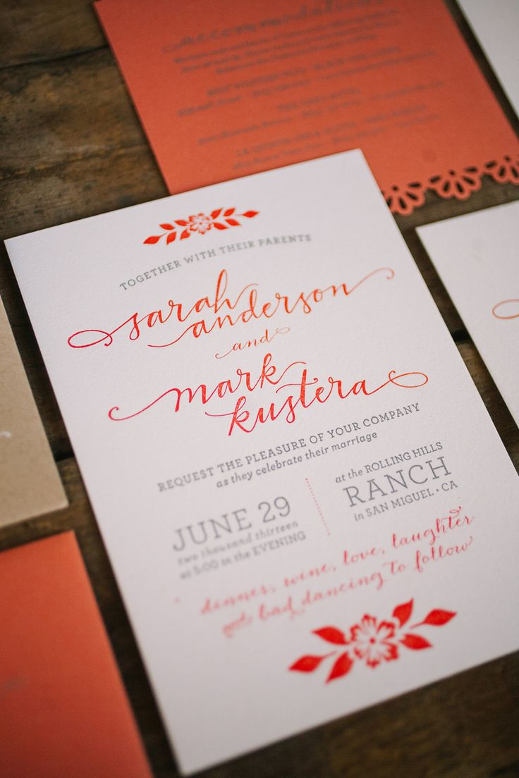 Sarah + Mark #Wedding Invitations → more on designvertise.com