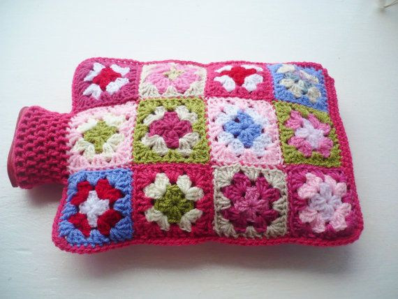 Shades of Pink Hot Water Bottle Cover/Cozy by Aalexi on Etsy, £20.00