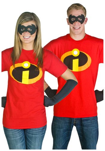 Easy costumes! Lol I believe they sell these shirts at the Disney store. Gloves can be found at any costume store