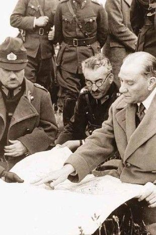 """There is no defence line, there is defence in area. This area is all of the home country."" M.K.Atatürk."