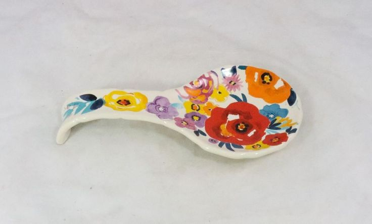 The Pioneer Woman Spoon Rest Flea Market Floral in Collectibles, Kitchen & Home, Kitchenware | eBay