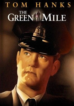 The Green Mile (1999) Director Frank Darabont's powerful adaptation of Stephen King's supernatural tale is set on death row in a Southern prison, where gentle giant John Coffey (Michael Clarke Duncan) possesses the mysterious power to heal people's ailments. When the cellblock's head guard, Paul Edgecomb (Tom Hanks), recognizes Coffey's miraculous gift, he tries desperately to help stave off the condemned man's execution. The able supporting cast includes Bonnie Hunt.: Movie Posters, Film, Great Movie, Stephen King, Miles 1999, The Green Miles, Book, Tom Hanks, Favorite Movie