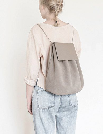 BACKPACK I GRAY by mumandcompany on Etsy - and perfect when i just want to carry half of my world