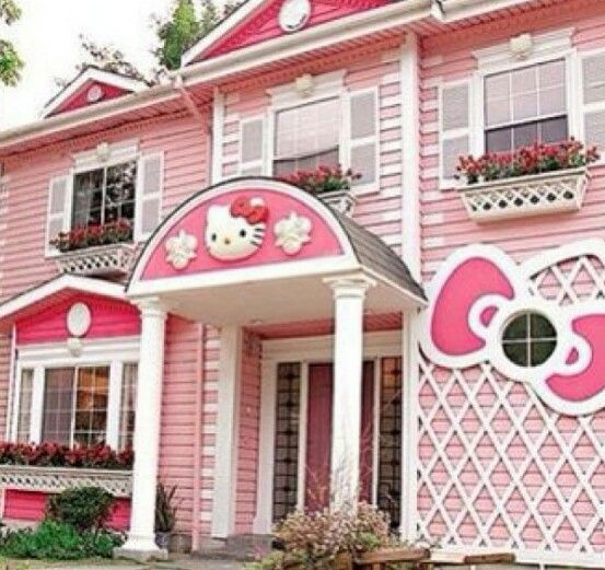 pink hello kitty house think pink pinterest pink