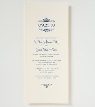 Heidi Wedding Invitation - Traditional Wedding Invitation