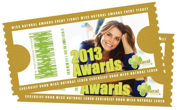 Reserveer jouw ticket voor de Miss Natural Awards 2013