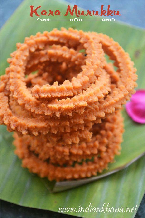 Kara Murukku or Spicy Murukku is easy, tasty murukku recipe for this #diwail to try.  For #vegan version  replace butter with hot oil.