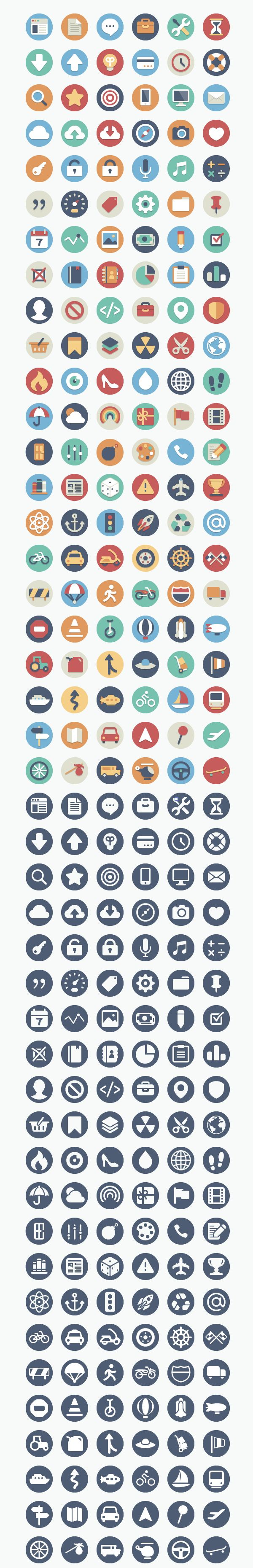flat icons by elegant themes