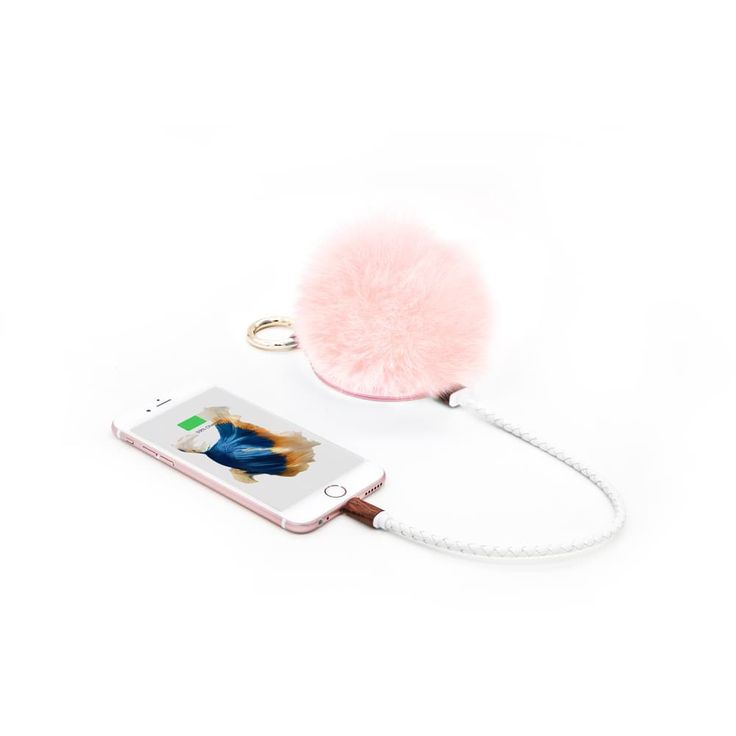 POMPOM Portable Charger & Bag Charm - Blush by Boostcase | Spring - Free Shipping. On Everything