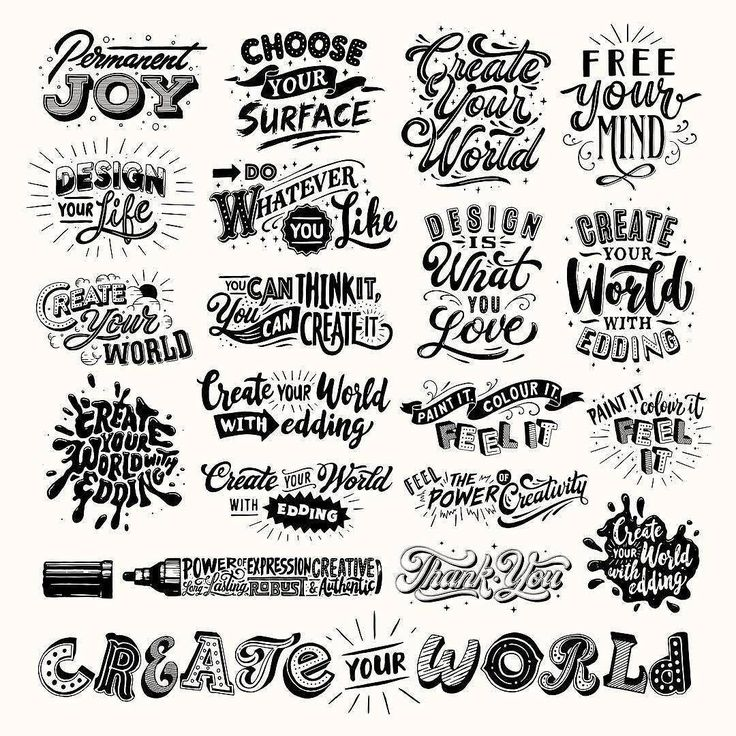 This collection of lettering layouts makes me happy. Type by @tobiassaul - #typegang - free fonts at typegang.com   typegang.com #typegang #typography