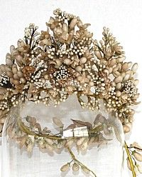 *1880's French Wax Orange Blossom Wedding Tiara
