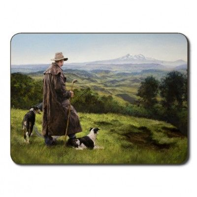 Placemats Stockman. Set of six quality Jason placemats feature the Stockman design depicting images of New Zealand stockmen from Wanganui artist Julie Greig. Protect furniture from staining and scratching in style with these easy care placemats. Simply wipe with a damp cloth and dry with a soft cloth and they will stand the test of time.  Dimensions 29 x 21.5cm (11 1/2 x 8 1/2 inches). Matching coasters available. See more at www.entirelynz.co.nz/gifts