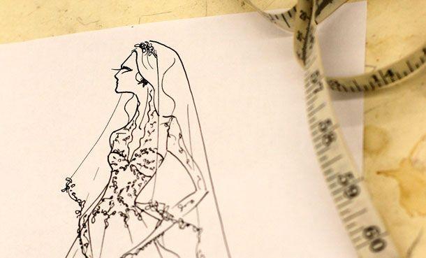 A sketch of Kate Middleton's Wedding Dress