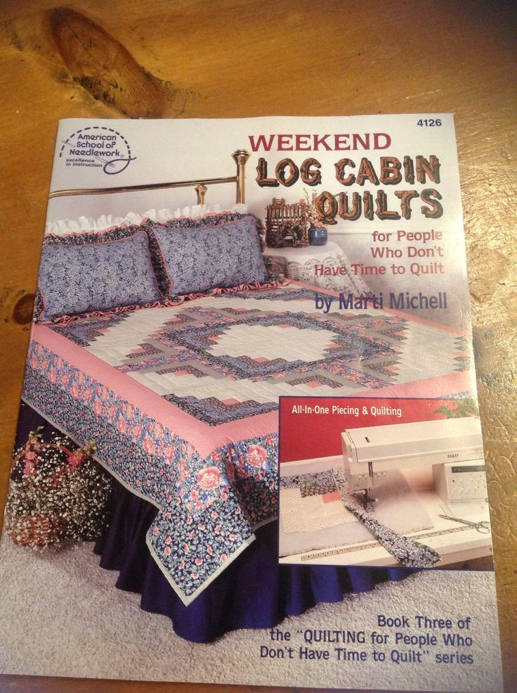 A personal favorite from my Etsy shop https://www.etsy.com/listing/583918316/weekend-log-cabin-quilts-book