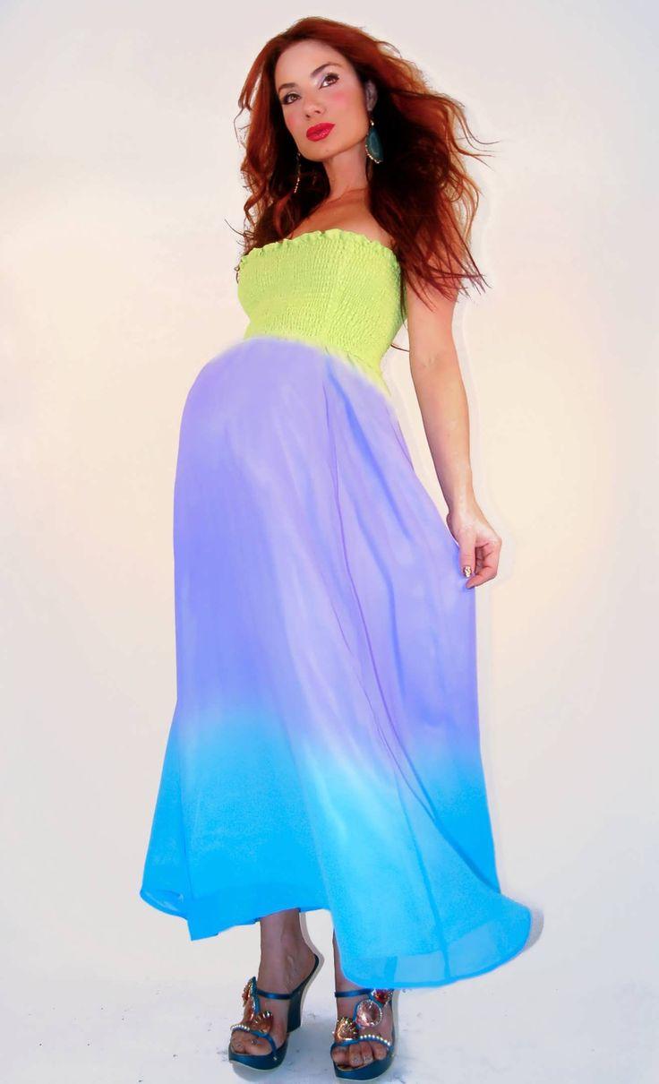 Good Ombre Maternity Maxi Dress|Maternity Dresses For Baby Shower|Maternity  Dresses For Baby Showers
