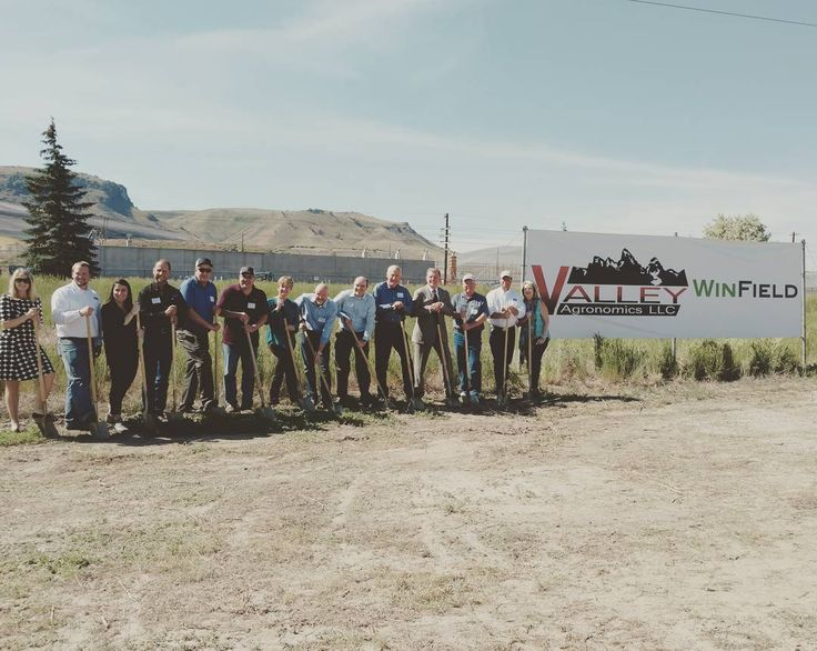Beautiful day for a Ground Breaking Ceremony. Our new Valley Ag Fertilizer plant in Pocatello Idaho. Thanks Governor Butch Otter for coming out today. #lifeinthevalley #valleyag #governorotter #butchotter #fmc
