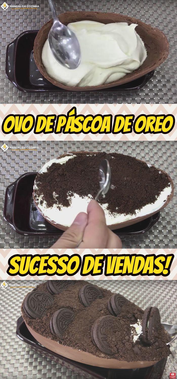 A PÁSCOA NEM CHEGOU E EU JÁ TENHO MAIS DE 200 ENCOMENDAS DESSE OVO DE OREO, QUERO COMPARTILHAR COM VOCÊS ESSE SUCESSO! #pascoa #ovodepascoa #chocolate #oreo #manualdacozinha #alexgranig #sobremesa #doces #comida #culinaria #gastronomia #chef