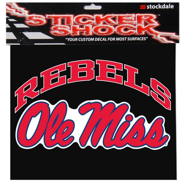 """Ole Miss Rebels 12"""" x 12"""" Arched Logo Decal"""