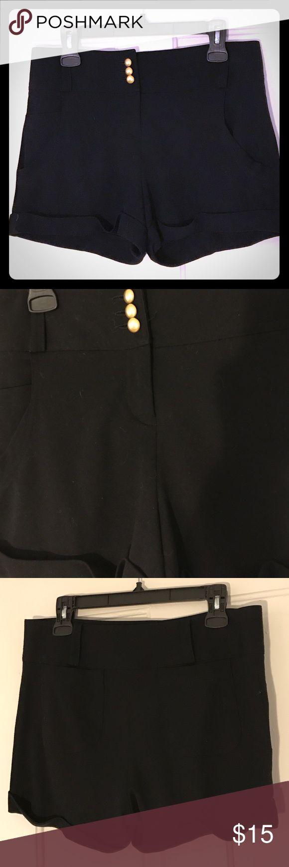 La Rock Black Stretch Dress Shorts Dressy shorts with stretch. Pockets on front and back. La Rok Shorts