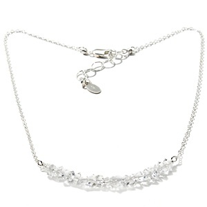 "Deb Guyot Designs Herkimer Quartz ""Trapeze"" Sterling Silver 17"" Necklace at HSN.com."