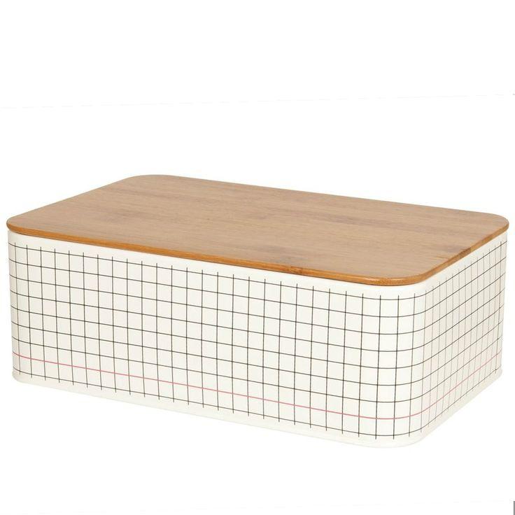 Bread Box Grid Tin - Der hübsche Brotkasten von Present Time