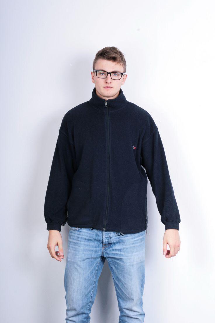 Mello Mens M Fleece Top Jacket Blue Mountain Wear Blue Vintage Mellos Jumper Track Top