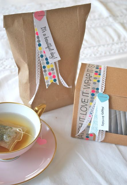 Could make a great home made simple gift set: biscuits and mixed tea bags/good coffee beans