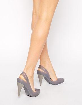 Melissa+Classic+Heel+Grey+Court+Shoes